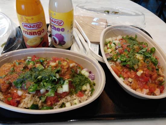 Chicken and Lamb Burrito in Tava Lava Sauce - Picture of Tava ...