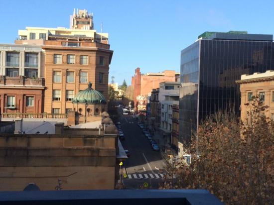 Chifley Executive Suites : View of city from apartment balcony