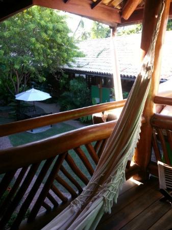 Pousada Casa De Praia: Balcon