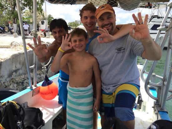 "Opal's Dream: Sergio showed us a great time ""under the sea""! Thanks for being so patient with my boys learning"