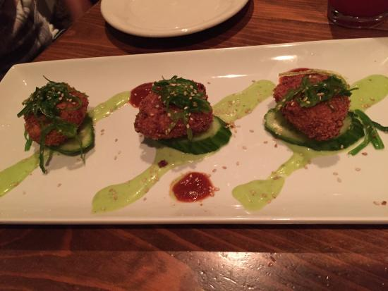 "Zea: Crab Cakes with ""Asian flare"""