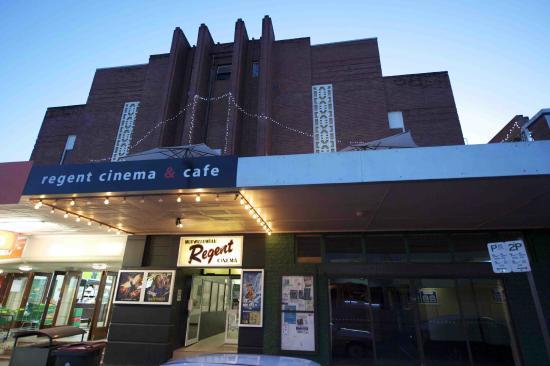 The Regent Cinema: Front entrance