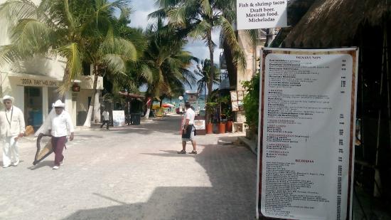 Hostel Quinta Playa: la playa desde el hostal