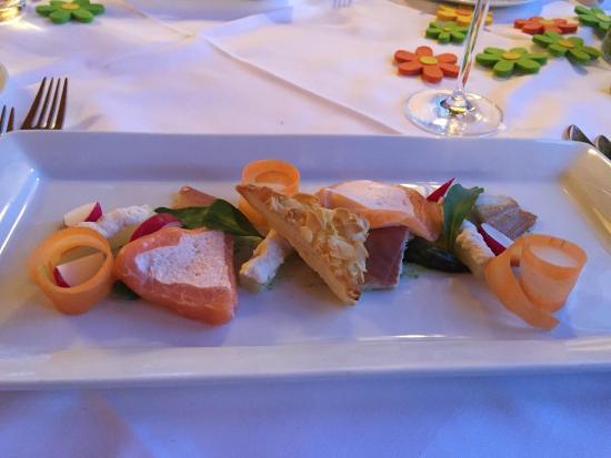 Hotel Gerbi: Vorspeise im Restaurant Gerbi