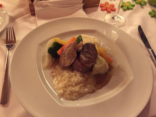Hotel Gerbi: Hauptspeise im Restaurant Gerbi