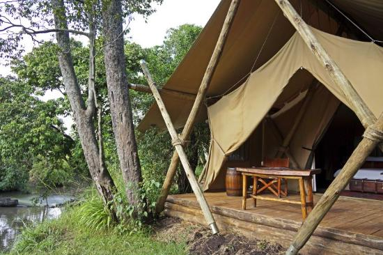 Great Plains Conservation Mara Expedition Camp: Mara Toto Camp, Kenya - Guest tent exterior with view of river