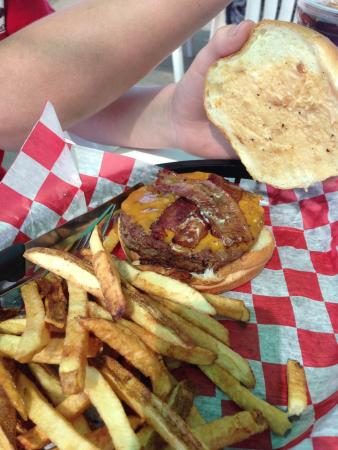 The Breakwall: One of their special smoked burgers. Get there early because they only cook so many a day and wh