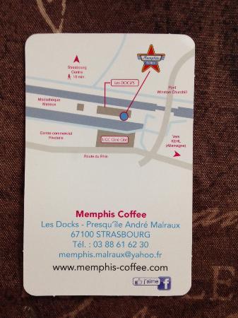 Memphis Coffee Strasbourg Verso De Leur Carte Visite
