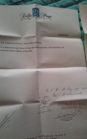 Hotel Mallorca Senses Palmanova: constataciones de la no existencia de hoja de reclamacio es