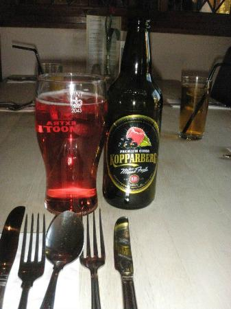 The Horseshoe Restaurant: Good selection of ciders