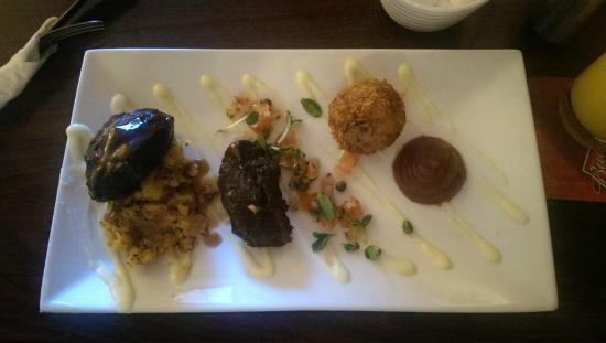 Leenane Hotel Restaurant : Pork Cheek with Crispy Ham Hock Bon Bon