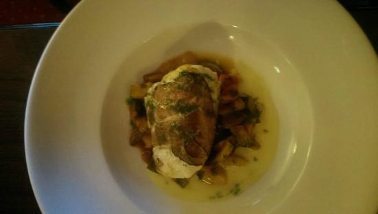 Leenane Hotel Restaurant : Cod Wrapped in Parma Ham