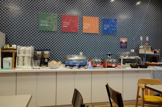 Comfort Hotel Tokyo Kanda: 朝食コーナー