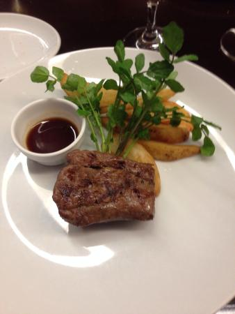 120 g grass fed beef fillet (I mistakenly referred to this as 150 g in ...