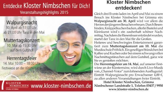Hotel Kloster Nimbschen: Entdecke KLOSTER Nimbschen für dich!