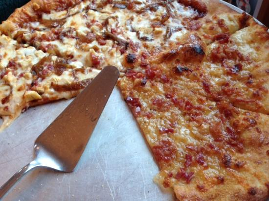Mountain Fire Pizza: Our tasty half & half pie!
