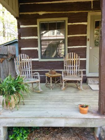 French Camp Bed and Breakfast Inn: Porch of our cabin