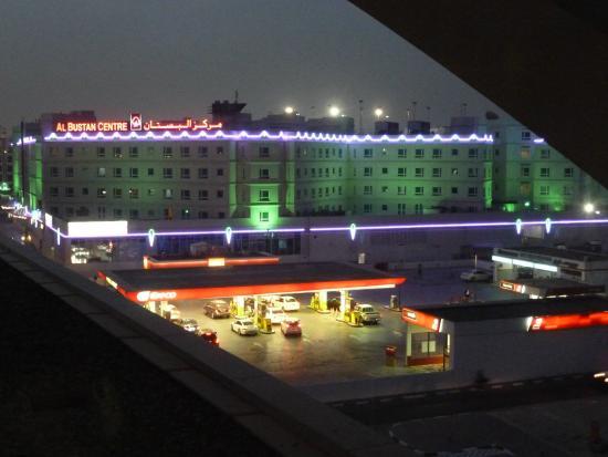 Al Bustan Centre & Residence: Al Bustan Residence at twilight from Al Nahda metro station