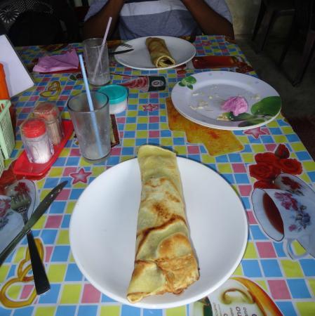 French Restaurant and Bakery : pancake chocolat banane