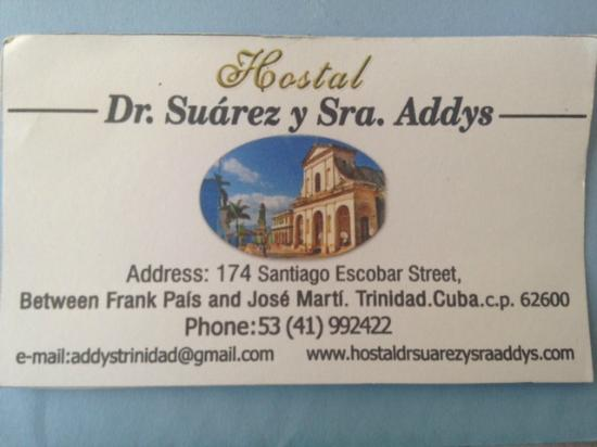Hostal Dr. Suarez y Sra. Addys: address and contact details