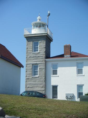 Watch Hill Lighthouse: One of the few square lighthouses around
