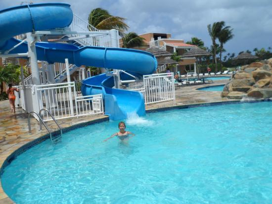 Piscina con tobog n y bar picture of divi village golf - Divi village golf and beach resort ...