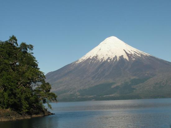 Mt. Osorno from Lake Esmeralda