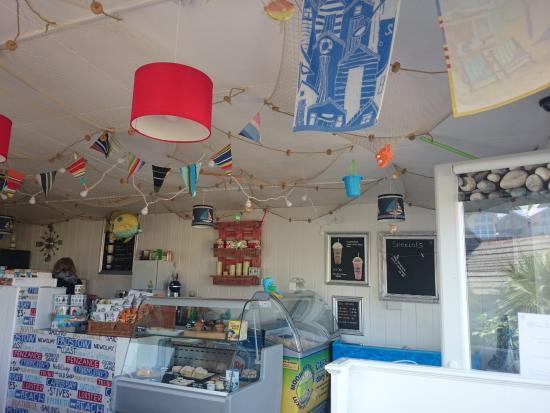 Coast Cafe: Cafe Coast Porth maritime-themed ceiling