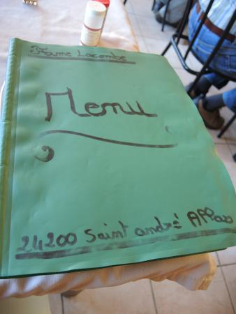 michel lacombe : The basic but so satisfying menu