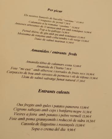CARTA 1 - Restaurant THOT (Girona)