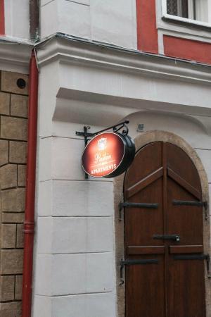 Pushkin Apartments: Hotel Sign