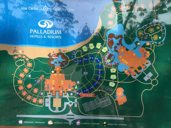 Map Of All Hotels Picture Of Grand Palladium Kantenah Resort