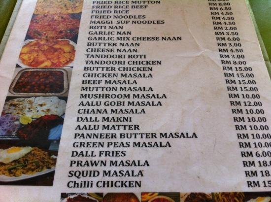 Restoran Almaz: Menu