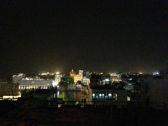 Natural Lake View Restaurant: view from rooftop at night
