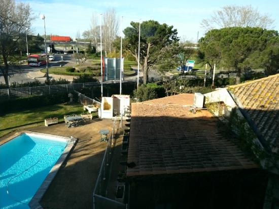 Ibis Arles: View from room over-looking pool.