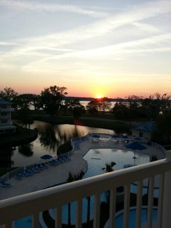 Bluewater Resort and Marina : Standing on our balcony (3200 bldg, top floor, right hand corner)