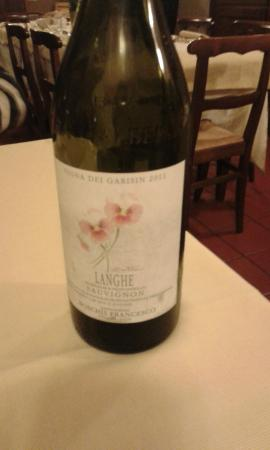 Locanda dell'Arco : vino bianco d'ingresso