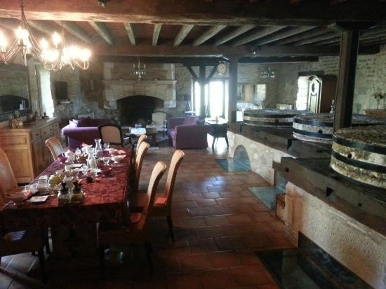 Grateloup-Saint-Gayrand, Francia: La salle à manger / salon