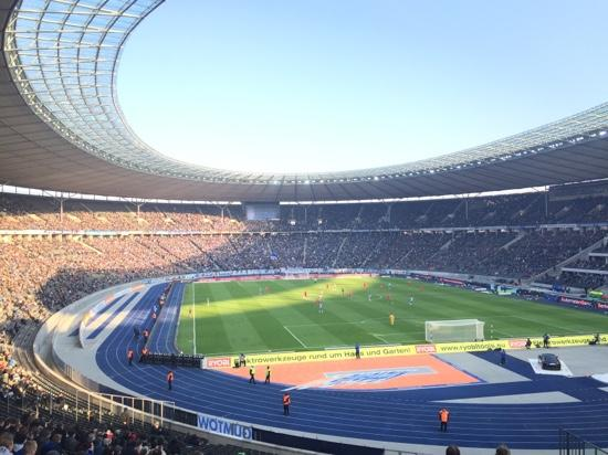 view from our seats picture of olympiastadion berlin berlin tripadvisor. Black Bedroom Furniture Sets. Home Design Ideas