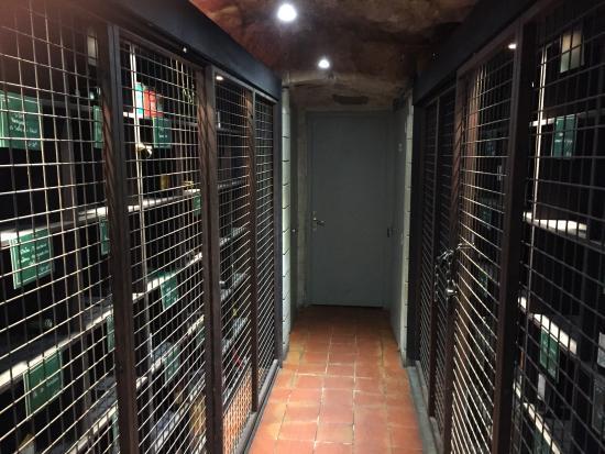 Mères et Filles: Wine Cellar Downstairs