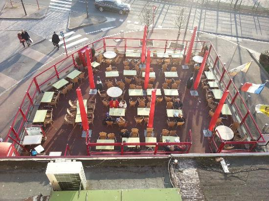 la terrasse de la brasserie picture of hotel hamiot boulogne sur mer tripadvisor. Black Bedroom Furniture Sets. Home Design Ideas