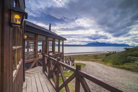 Weskar Patagonian Lodge: Terraza