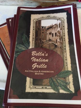Bella's Italian Grille : Menu