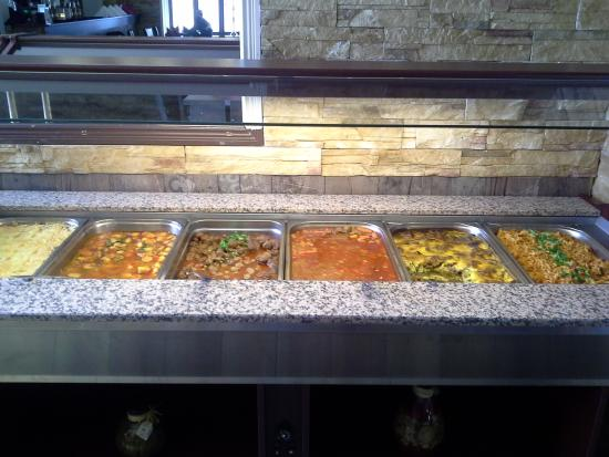 Restaurant New Ankara: The Buffet Section For Carbohydrates, Meat Dishes