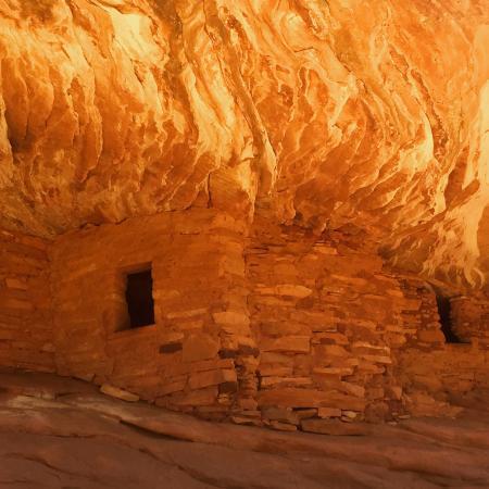 Mule Canyon Ruins: 4/14/15 sun capture at 1230 pm.