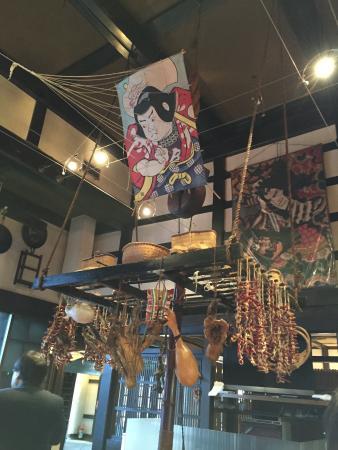 Takinami: 囲炉裏天井にある大凧