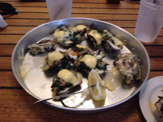 The Grand Marlin of Pensacola Beach: Great Oysters Rockefeller!