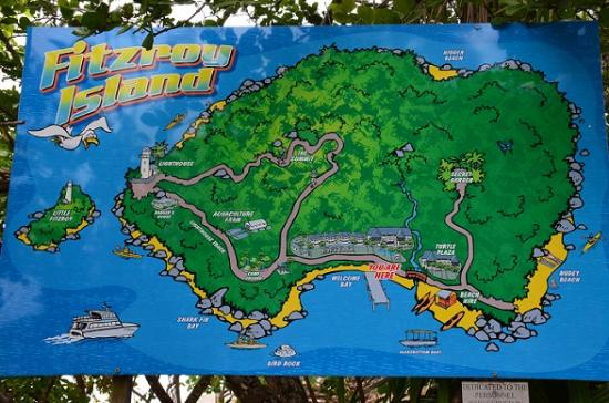 Fitzroy Island National Park: Island Map