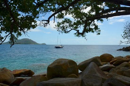 Fitzroy Island National Park: looking towards Cairns from Nudey Beach