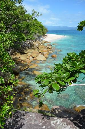 Fitzroy Island National Park: Nudey Beach viewed from the track